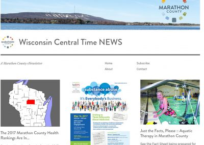 Website: Marathon County Wisconsin Central Time News